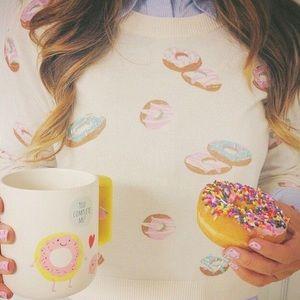 LC Lauren Conrad Beaded Donut Sweater